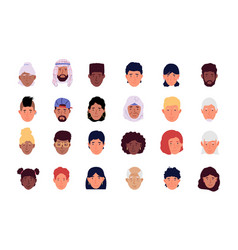 User avatar cartoon men and women modern icons vector