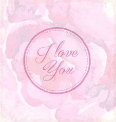 Valentines Day Vintage Greeting Card Elements vector image