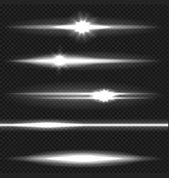 White laser beams pack vector