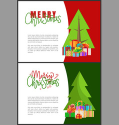 wishes of happy new year merry christmas lettering vector image