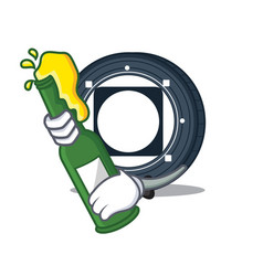 With beer byteball bytes coin mascot cartoon vector