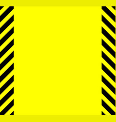 yellow and black warning background vector image