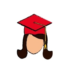 Young student graduation vector