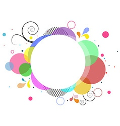 Abstract frame background vector image
