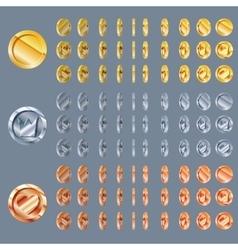 Cartoon Rotation animation vector image vector image