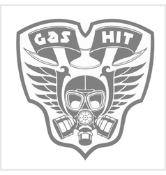 Military and biker patch isolated on white vector image