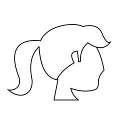portrait woman bride outline vector image vector image