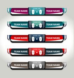 Scoreboard football elements vector