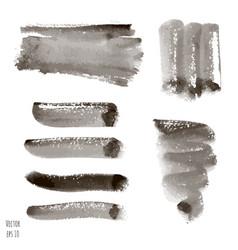 set of dark black watercolor vector image vector image