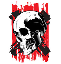 the image of the evil skull vector image
