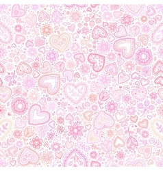 Valentines day artistic seamless background vector image vector image