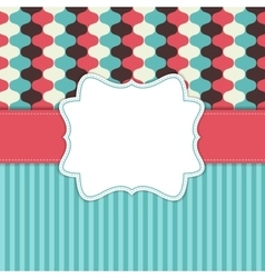Vintage Background with Retro Frame vector image