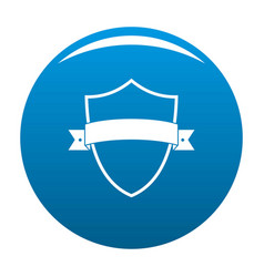 badge element icon blue vector image vector image
