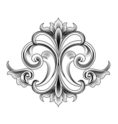 victorian style decoration vector image