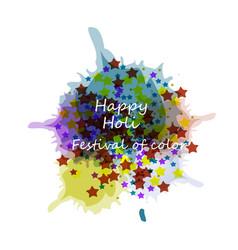 beautiful card holi festival celebration colorful vector image