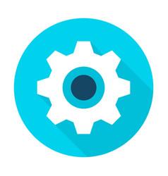 gear wheel flat circle icon vector image