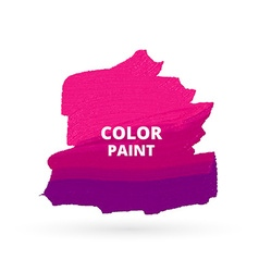 pink color paint design vector image vector image