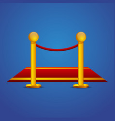 Red carpet and barrier rope vector