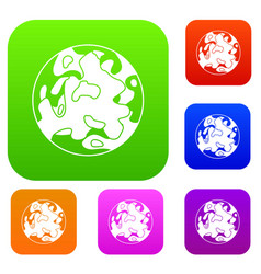 small planet set color collection vector image vector image