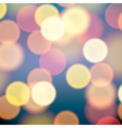 Christmas lights blurred background vector image vector image