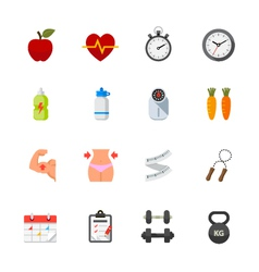 Fitness and Health Icons vector image vector image