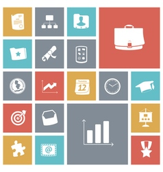 Flat design icons for business and finance vector image vector image