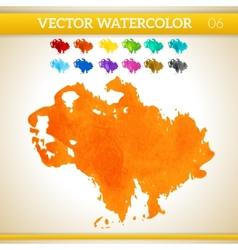 Orange Watercolor Artistic Splash for Design and vector image