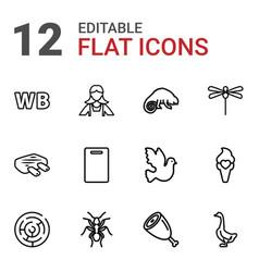 12 logo icons vector