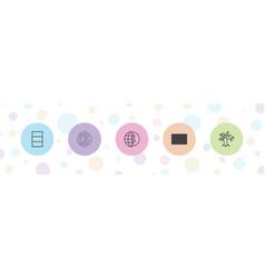 5 trade icons vector