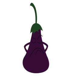 A sad eggplant or color vector