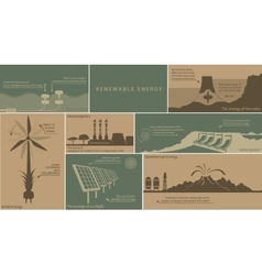 all kinds of renewable energy vector image