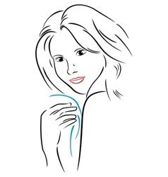 Attractive woman vector image