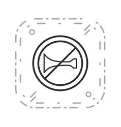 audible warning devices prohibited icon vector image