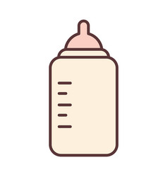 bafeeding bottle milk and care newborn template vector image