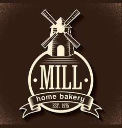 Bakery stylish poster vector