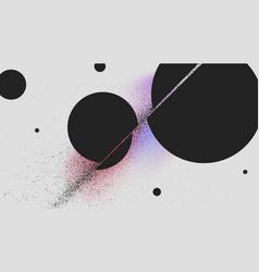 Ball cutting sword attack black powder vector