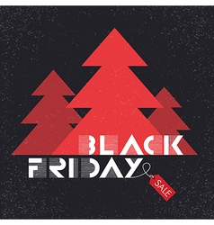 black friday poster tree christmas vector image