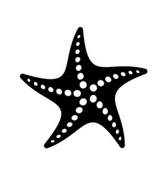 Black simple starfish icon vector