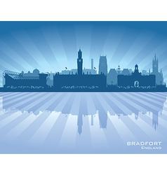 Bradfort england skyline with reflection in water vector