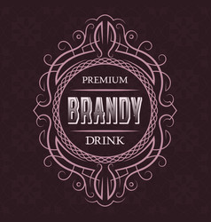 Brandy premium drink label design template vector