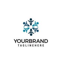 business people community logo design concept vector image