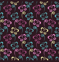 butterfly hand drawn pattern vector image