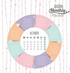 Calendar year 2016 vector