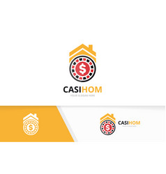 casino and real estate logo combination vector image