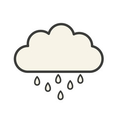 cloud icon with rain vector image