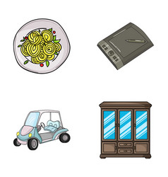 Cooking sport and other web icon in cartoon style vector