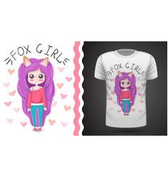 cute little princess - idea for print t-shirt vector image