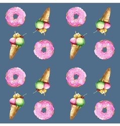 Donut ice cream vector