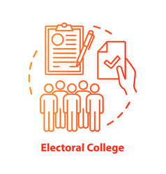 Elections concept icon electoral college idea vector