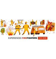 experienced fire fighters header vector image